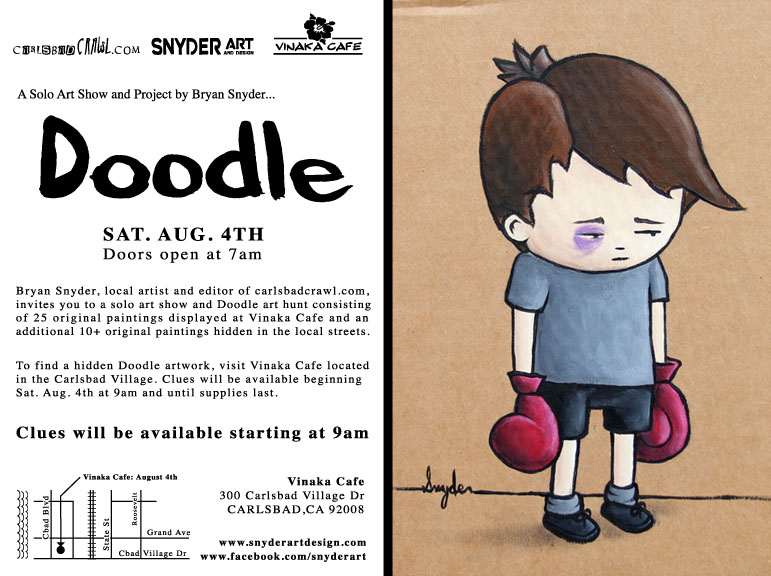 Solo Doodle Art show and Art Hunt by Snyder |