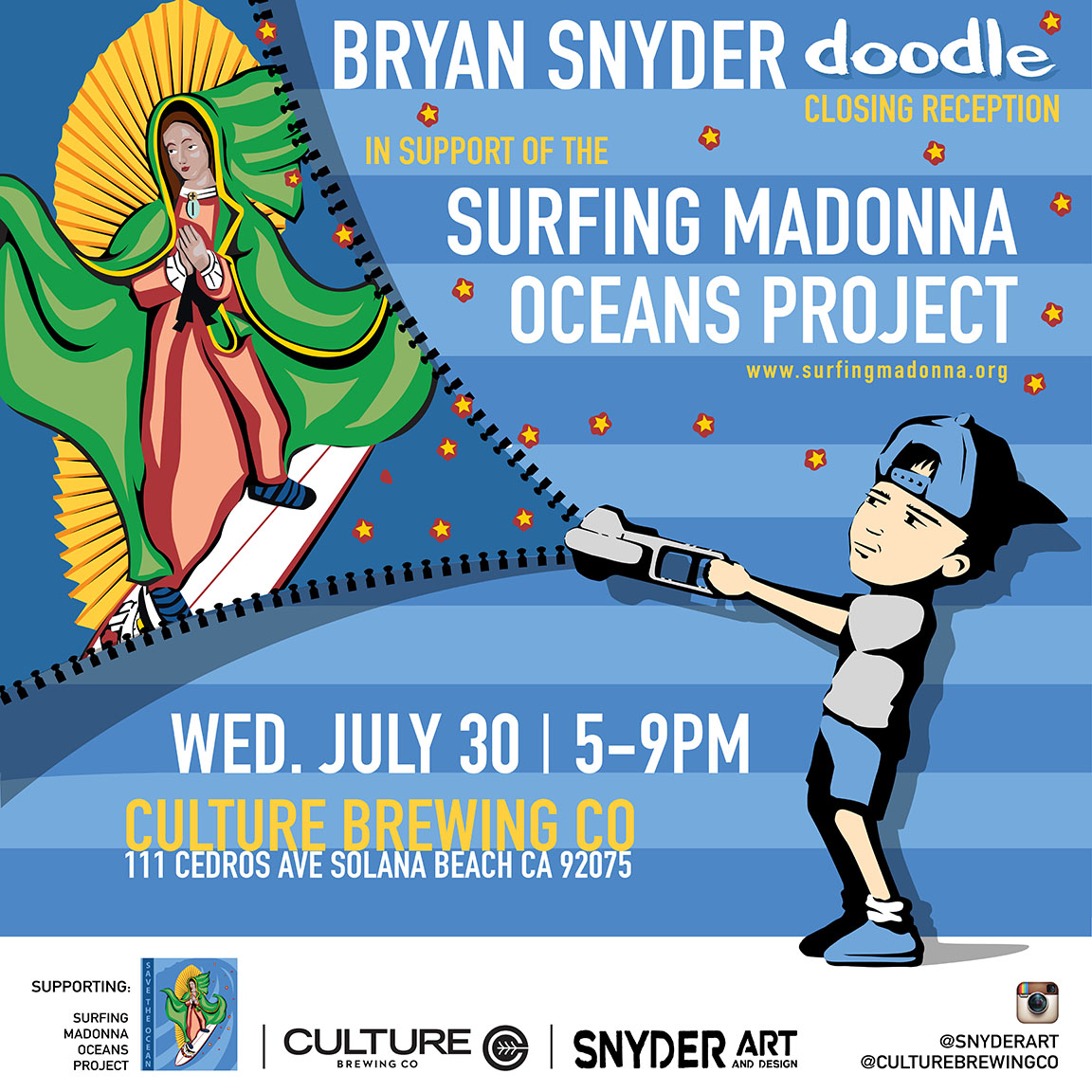 snyder mark patterson art show surfing madonna