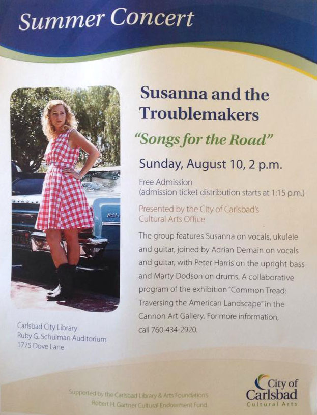 susanna kurner sings for the city of carlsbad