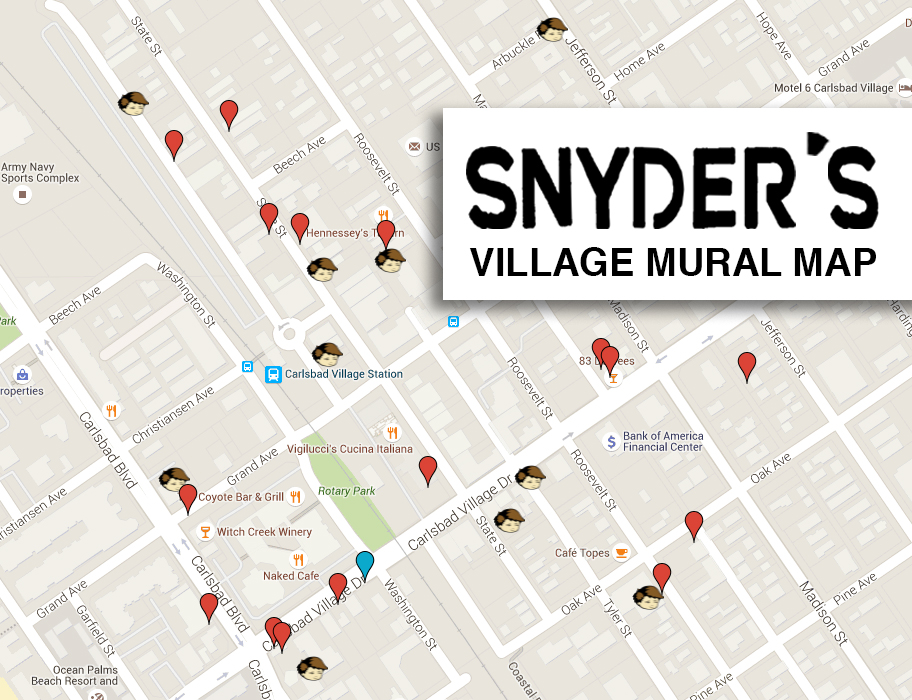 Snyders Carlsbad Village Mural Map
